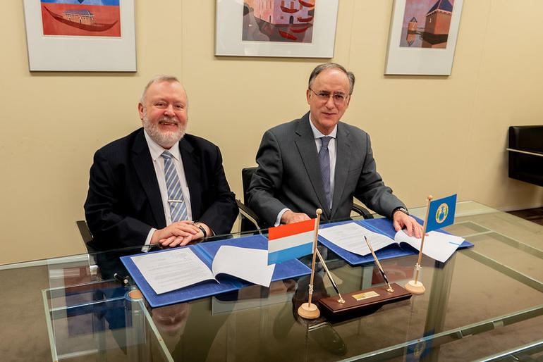 Luxembourg Signing Ceremony in Support of OPCW's Syria Activitie